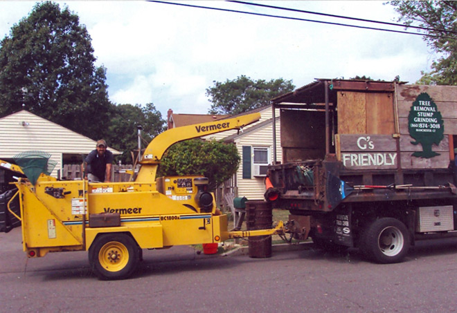 Tree Chip Truck in East Hartford, Connecticut, CT